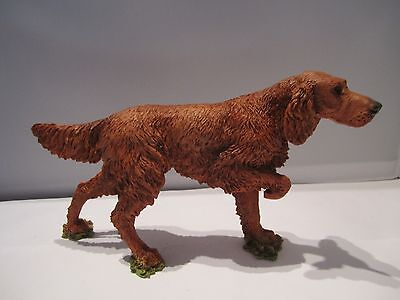 Irish Red Setter dog figure on point model by Castagna hand made in Italy new
