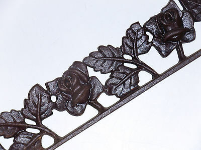 Vintage Rose Iron Architectural Decorative Trim For Fence Gate Windowsill Accent
