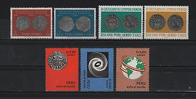 Peru 1961-1969 Numismatic Exposition First Coins Peru Before The World Sc# C166-