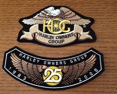 Harley Owners Group HOG Patch Lot of Two Harley Davidson New