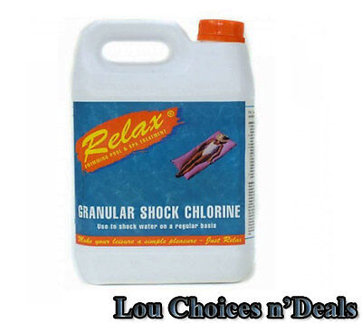 Swimming Pool Granules Chlorine Shock Clear Algae Water Clean Spa Treatment 5kg