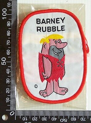 Vintage Flintstones Barney Rubble Embroidered Patch Woven Cloth Sew-On Badge