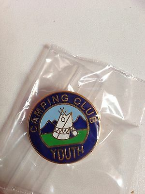 The Camping Club 'Youth' Enamel Lapel Badge, Vintage