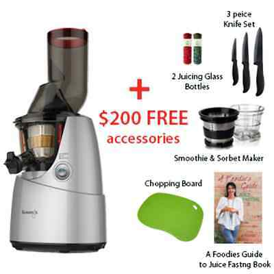 NEW Kuvings Cold Press Whole Slow Juicer B6000 + $200 in FREE accessories