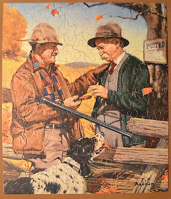 "VTG Hunting Season ~ Two Men & Bird Dog ~ Series ""JJ"" Interlocking Guild #2900"