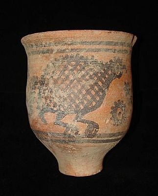 Going out of business!  PAINTED CUP-CHALICE WITH ANIMALS EARLY BRONZE AGE~3000BC