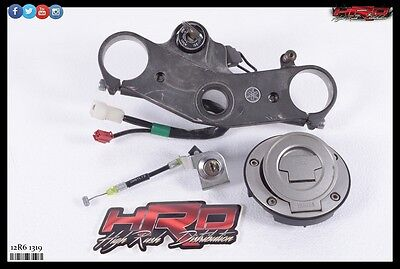 2012 Yamaha YZF-R6 YZF R6 OEM Ignition Key Tank & Tail Lock Set with Top Clamp