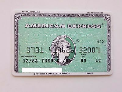 Usa - American Express - Expired - Credit Card - 1984 -