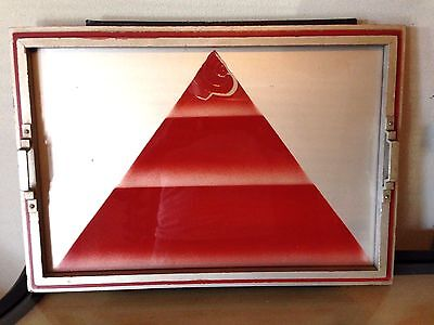 Antique Art Deco Serving Tray  W/pyramid Print Dated 1926