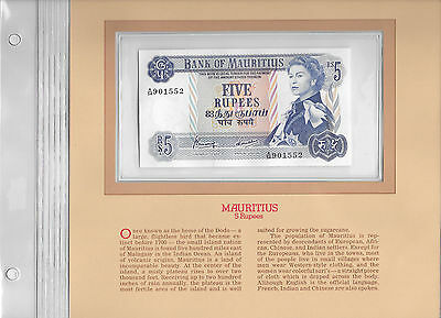 Most Treasured Banknotes Mauritius 1967 5 Rupees P 30c GEM UNC Prefix A/54