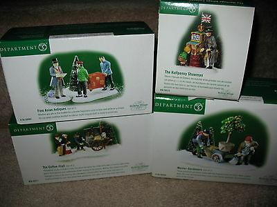 Dept 56 Heritage Village Collection Dickens Village Series Lot of 4
