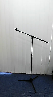 TWO (x2) Haze M-100 Microphone Boom Stands with Clasp Holders