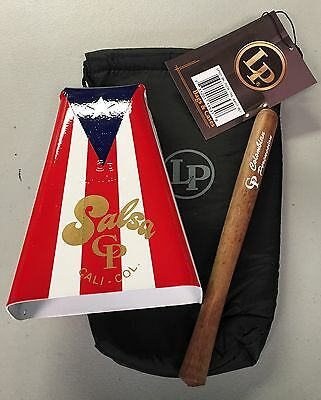 Hand Held Cowbell with Puerto Rico Flag Design -Salsa CP#5 With  LP Pouch.