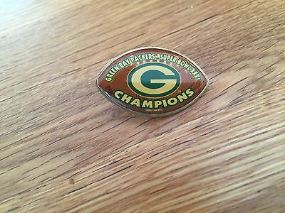 Official NFL Super Bowl XXXI 31 Green Bay Packers Champions Pin Badge