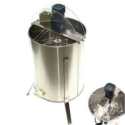 4 Frame Electrical Stainless Steel Honey Extractor for Beekeeper + Outlet Device
