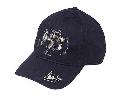 GENUINE Triumph Motorcycles Steve McQueen 955 Navy Blue Baseball Cap Hat NEW