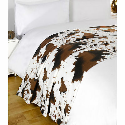 Animal Print Theme Fleece Throw Blanket - Decorative Bed Throw Over - 120X150Cm