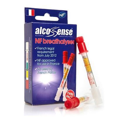 Alcosense X NF Alcohol Breathalyser Tester Twin Pack France Car Breath