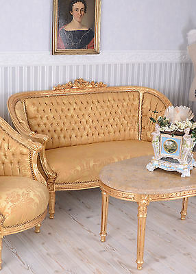 Sofa Set Baroque Lounge Suite Antique Sofa Chair Marble Table Table And Chairs