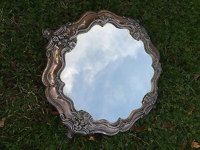 Antique Ornate Silver Plated Mirror. Cake Stand. Edwardian
