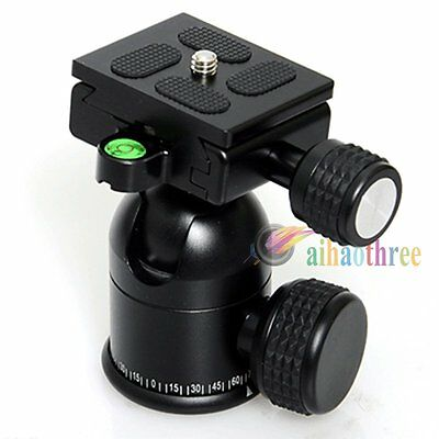 New CNC Aluminum Alloy 30mm Camera Tripod Ball Head With Quick Release Plate【AU】