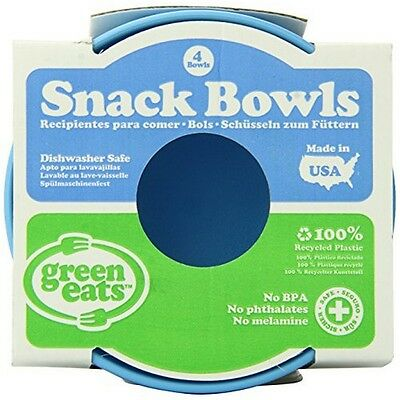 Green Eats SBLB-2129 Green Toys Snack Bowl - 4 Per Set - Blue NEW