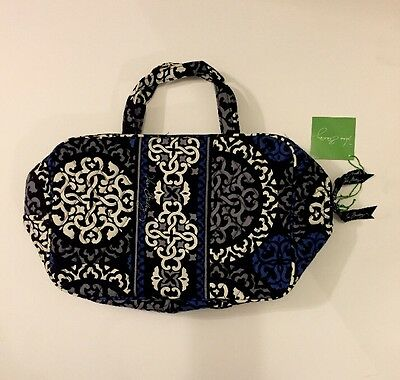 NWT Vera Bradley Travel GRAND  Cosmetic Bag In Canterberry Cobalt