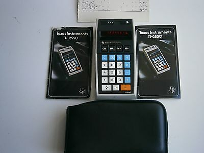 Vintage 1974 Texas Instruments ti-2550 with manual and case