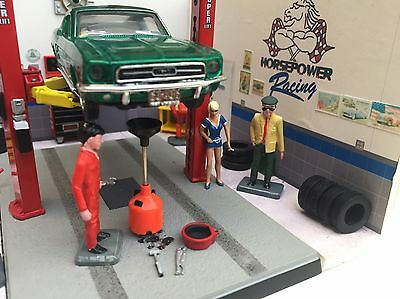 Custom Muscle Car Garage Diorama 1/43 SMBC Speed Shop Workshop Lift Snap-on