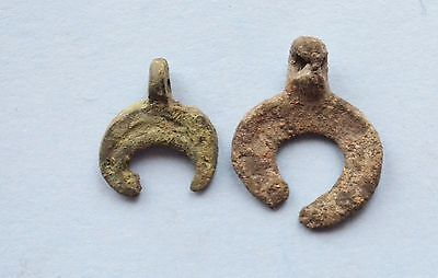 Ancient Viking Period Lunar shaped pendant