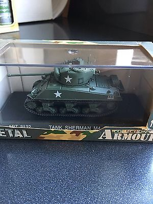 ARMOUR COLLECTION Art 3132 Tank Sherman U.S M4-A2 RARE 1/72 Die Cast