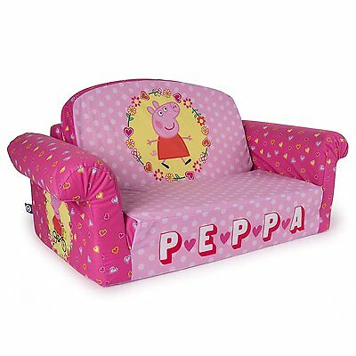 Marshmallow 2 in 1 Comfy Flip Sofa Peppa Pig Toddler Nap Couch NEW