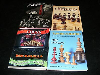 Lot HH of 4 Chess Set Design Books, Plus Chess in the Movies