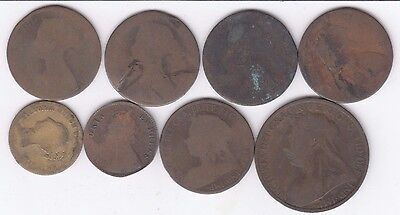 Victorian Coins mixed lot of 8