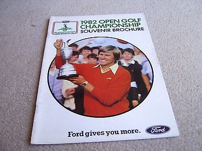1982 Open Golf Championship Souvenir Brochure produced by Ford Motor Co Ltd