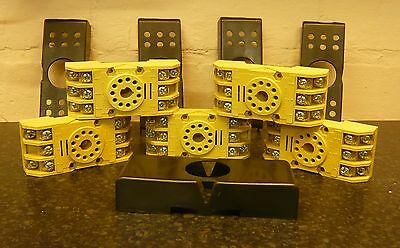 RELECO  11 pin relay socket base with covers. X5 units