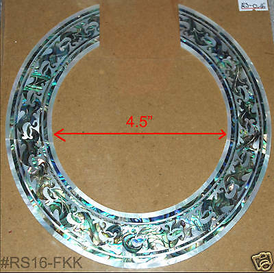 RS16# Rosette Inlay Paua Abalone & White Mop Mother of Pearl 1.5mm thickness