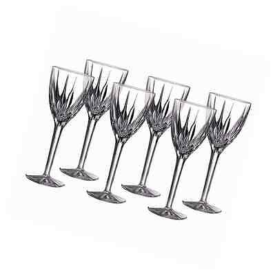 Royal Doulton Flame Crystal Large Wine Glasses, Set of 6