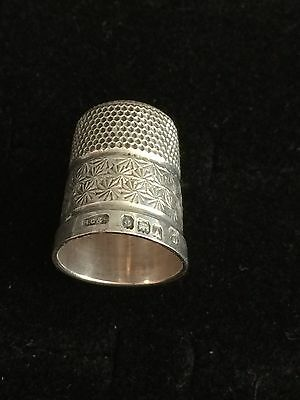 Vintage Solid Silver Sewing Thimble 3.69g (A11)
