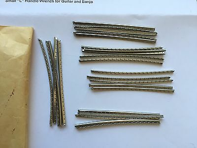 """Vintage Gibson Pre Cut Fret Wire-NOS -Part#83-026 -2 1/2""""long #691 Med Round"""