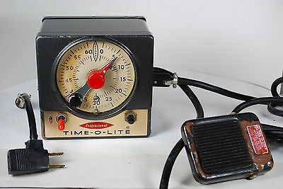 Professional Time-O-Lite Industrial Darkroom Timer P-59 w/ Foot Switch FS-59