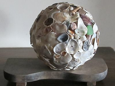 """Shell sphere, ocean shells, unique,"""" 1 of a kind"""""""