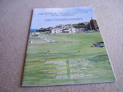 1990 Royal & Ancient St Andrews Golf Club Championships guide publication