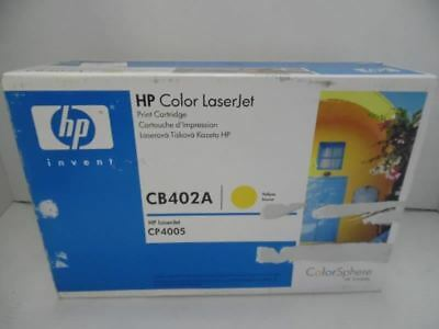 Original HP CB402A Colour Laserjet CP4005 Series Print Cartridge Yellow