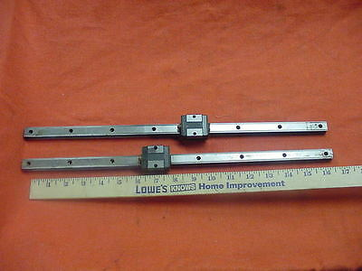 "Lot of 2 THK Linear Actuator Bearing 17"" Travel SR15V CNC  Free Shipping!"