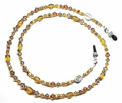 Zodiac Scorpio Topaz (November) Austrian Crystal Eyeglass Chain Holder