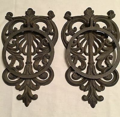 French Country Ornate ARCHITECTURAL DOOR KNOCKER shabby chic scroll doorknocker