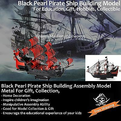 Black Pearl Boat Ship Sailboat Model Kit Building Education Gift Toy Collectible