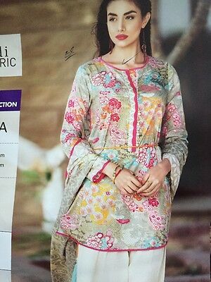 Original Khaadi Ladies 2 Piece Suit Kameez Dupatta Stitched Uk Stock Free P&p