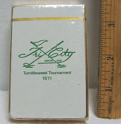 Vintage New Sealed  Playing Cards 1971 Tumbleweed Golf Tournament